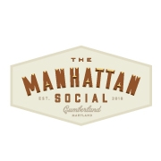 This is the restaurant logo for The Manhattan Social