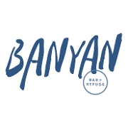 This is the restaurant logo for Banyan Bar + Refuge