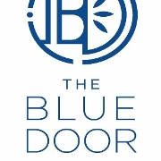This is the restaurant logo for The Blue Door Kitchen & Inn