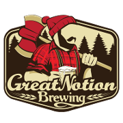 This is the restaurant logo for Great Notion Brewing