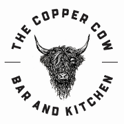 This is the restaurant logo for The Copper Cow Bar & Kitchen