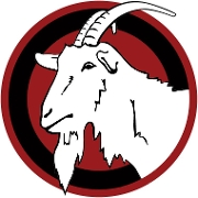 This is the restaurant logo for The Surly Goat
