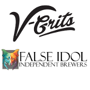 This is the restaurant logo for V-Grits / False Idol Independent Brewers