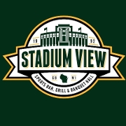 This is the restaurant logo for Stadium View