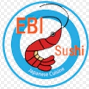 This is the restaurant logo for Ebi Sushi