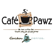 This is the restaurant logo for Cafe Pawz