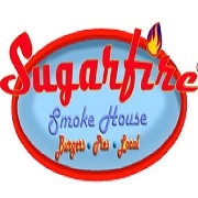This is the restaurant logo for Sugarfire Smoke House
