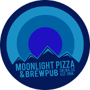 This is the restaurant logo for Moonlight Pizza & Brewpub