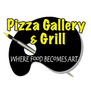 This is the restaurant logo for Pizza Gallery & Grill