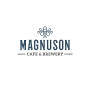 This is the restaurant logo for Magnuson Cafe & Brewery
