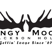 This is the restaurant logo for Mangy Moose Steakhouse and Saloon