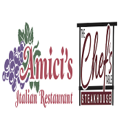 This is the restaurant logo for Amici's Family Restaurant