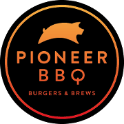 This is the restaurant logo for Pioneer BBQ