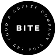 This is the restaurant logo for Bite Food & Coffee Co.