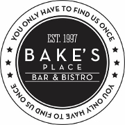 This is the restaurant logo for Bake's Place Bar & Bistro