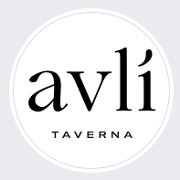 This is the restaurant logo for Avli Taverna
