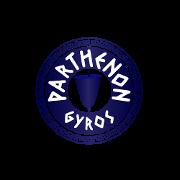 This is the restaurant logo for Parthenon Gyros