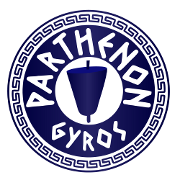 This is the restaurant logo for Parthenon Gyros