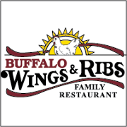 This is the restaurant logo for Buffalo Wings & Ribs