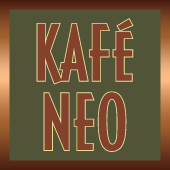 This is the restaurant logo for Kafé Neo Woodstone Taverna