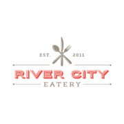 This is the restaurant logo for River City Eatery