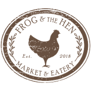 This is the restaurant logo for Frog & the Hen