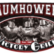 This is the restaurant logo for Baumhower's Victory Grille