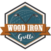 This is the restaurant logo for Wood Iron Grille