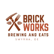 This is the restaurant logo for Brick Works Brewing & Eats