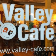 This is the restaurant logo for Valley Cafe