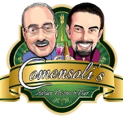 This is the restaurant logo for Comensoli's Italian Bistro