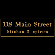 This is the restaurant logo for 118 Main Street Kitchen & Spirits