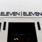 This is the restaurant logo for Eleven Eleven