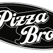 This is the restaurant logo for Pizza Bros