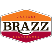 This is the restaurant logo for Brazz Carvery & Brazilian Steakhouse