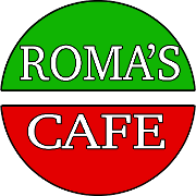 This is the restaurant logo for Roma's Cafe