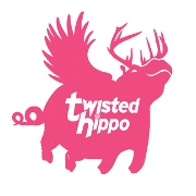 This is the restaurant logo for Twisted Hippo Taproom and Eatery