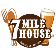 This is the restaurant logo for 7 Mile House Sports Bar & Grill