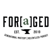 This is the restaurant logo for Foraged Kitchen & Raw Bar