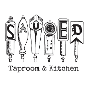 This is the restaurant logo for Sauced Taproom & Kitchen