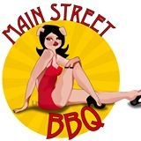This is the restaurant logo for Main Street BBQ