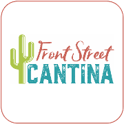 This is the restaurant logo for Front Street Cantina