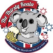 This is the restaurant logo for The Thirsty Koala