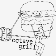 This is the restaurant logo for Octave Grill