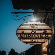 This is the restaurant logo for Nic & Norman's