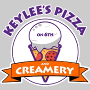 This is the restaurant logo for Keylee's Pizza & Creamery