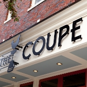This is the restaurant logo for The Coupe