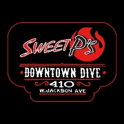 This is the restaurant logo for Sweet P's Barbeque and Downtown Dive