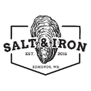 This is the restaurant logo for Salt & Iron