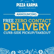 This is the restaurant logo for Pizza Karma